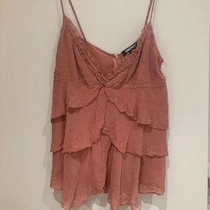 Beaded Silk DKNY Shirt